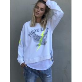 Hammill & Co Sunday Eagle cotton Sweater  - white