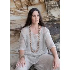 Beaded jewellery - gold seeds - sustainable jewellery