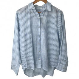 Linseed Designs linen shirt - Alice - blue and white stripe