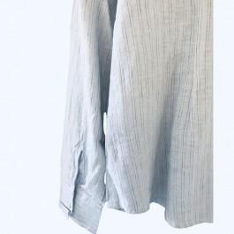 Linseed Designs linen shirt - Vega light blue stripe