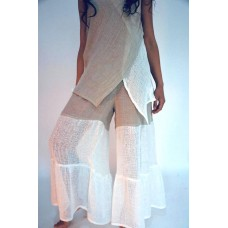 Terra Blu Italian linen Pants Charleston Garzone