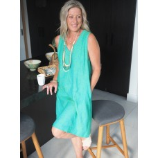Linseed Designs light green linen Kelli dress