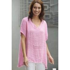 Italian Star Willow Waffle top  - Pink
