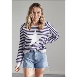 Jovie the label striped cotton St Tropez Sweater