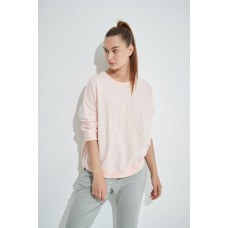Tirelli 3/4 Sleeve weekend embossed sweater - blush
